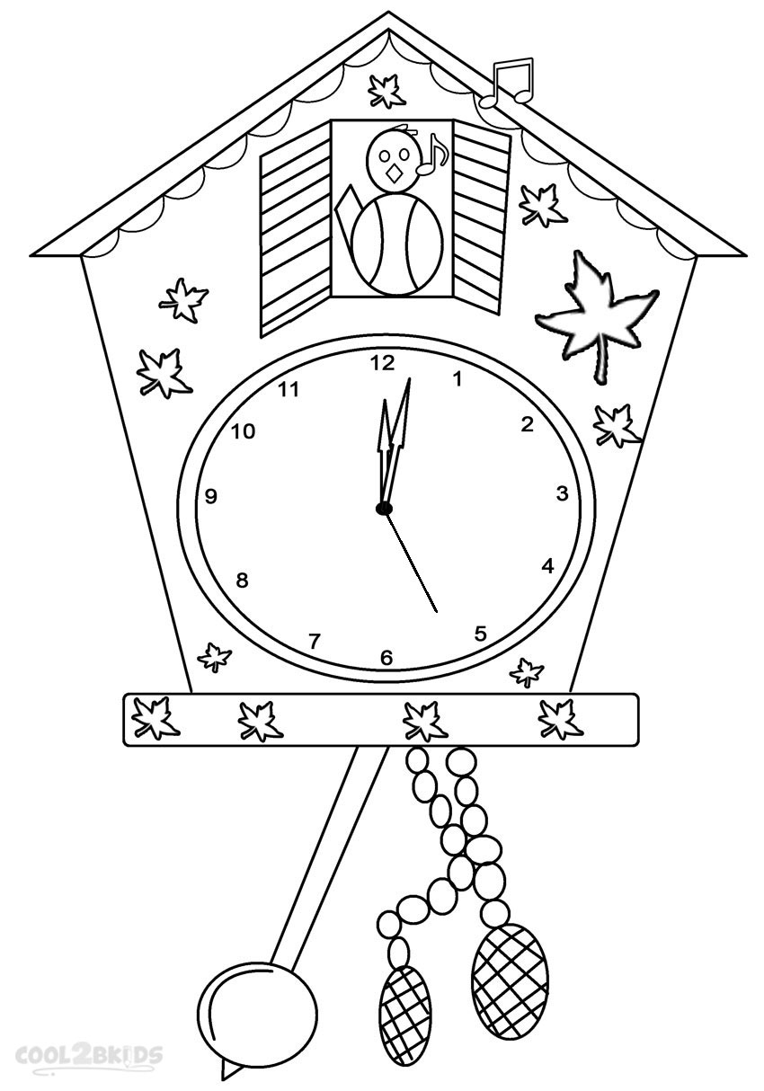 850x1214 Smart Printable Clock Coloring Pages For Kids Kids