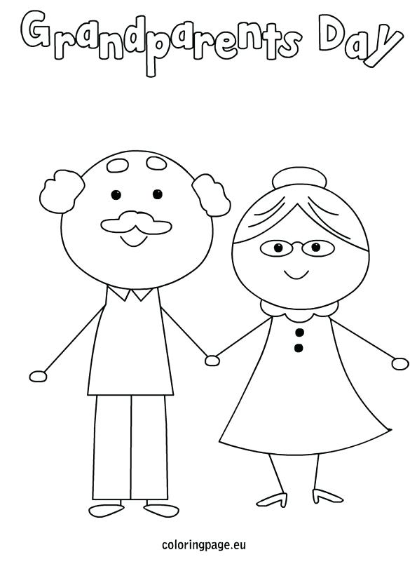 595x804 Best Grandparents Day Coloring Page Free Printable Grandparents