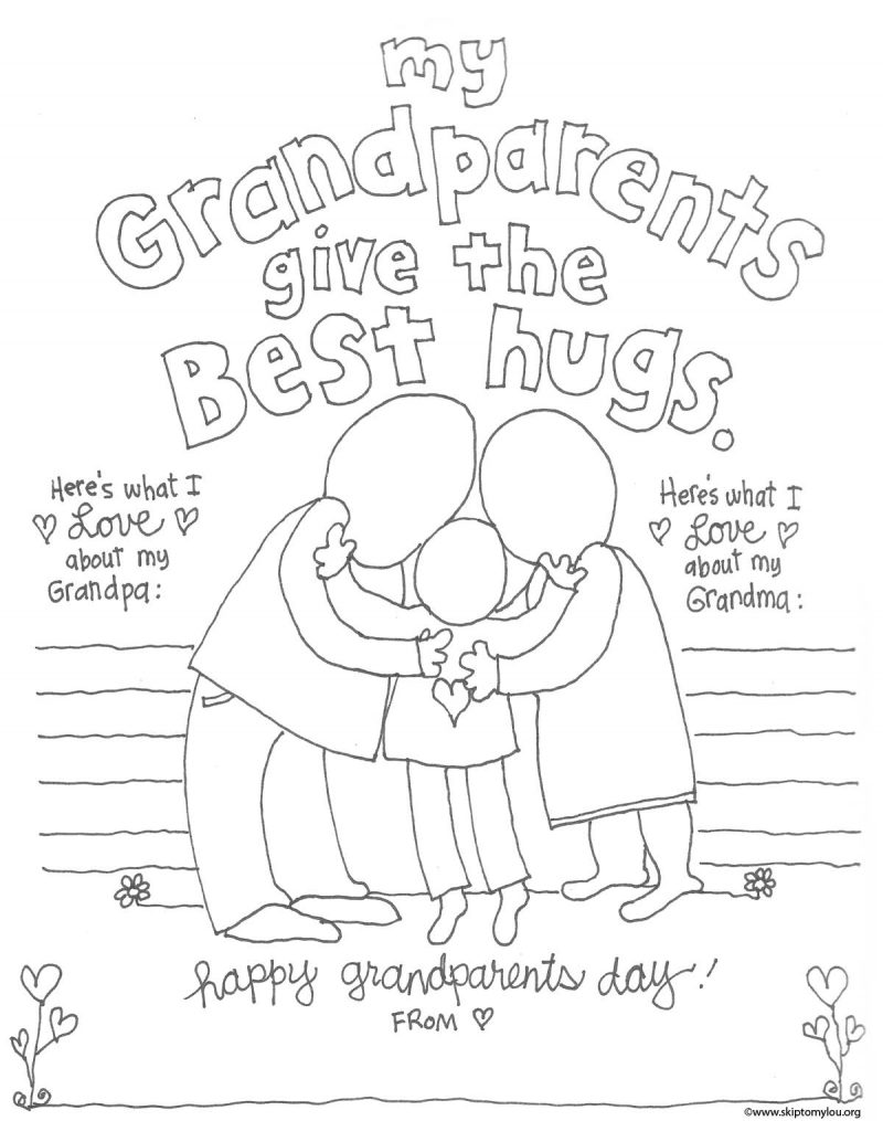 800x1015 Grandparent Coloring Pages For Grandparents Day Skip To My Lou