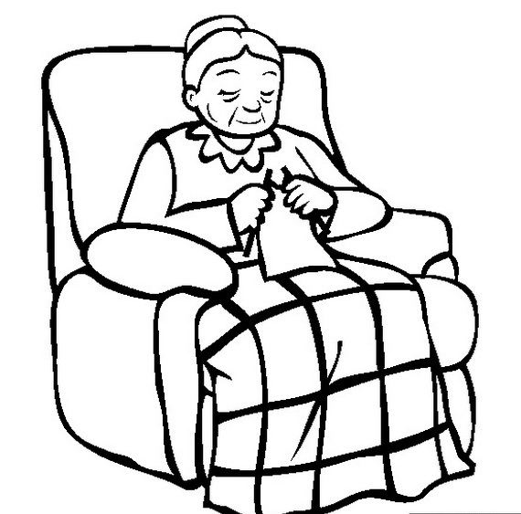 570x563 Grandparents Day Coloring Pages To Print And Color