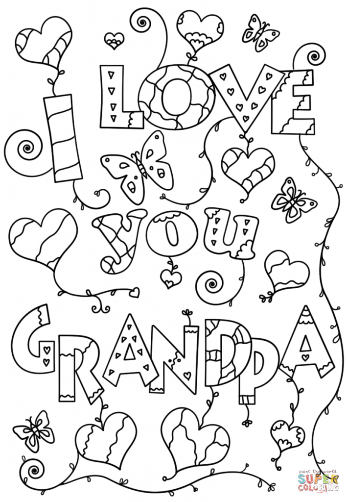 711x1024 I Love You Grandpa Coloring Pages