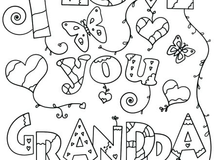 440x330 Pics Of Coloring Pages Grandpa Coloring Pages I Love You Grandpa