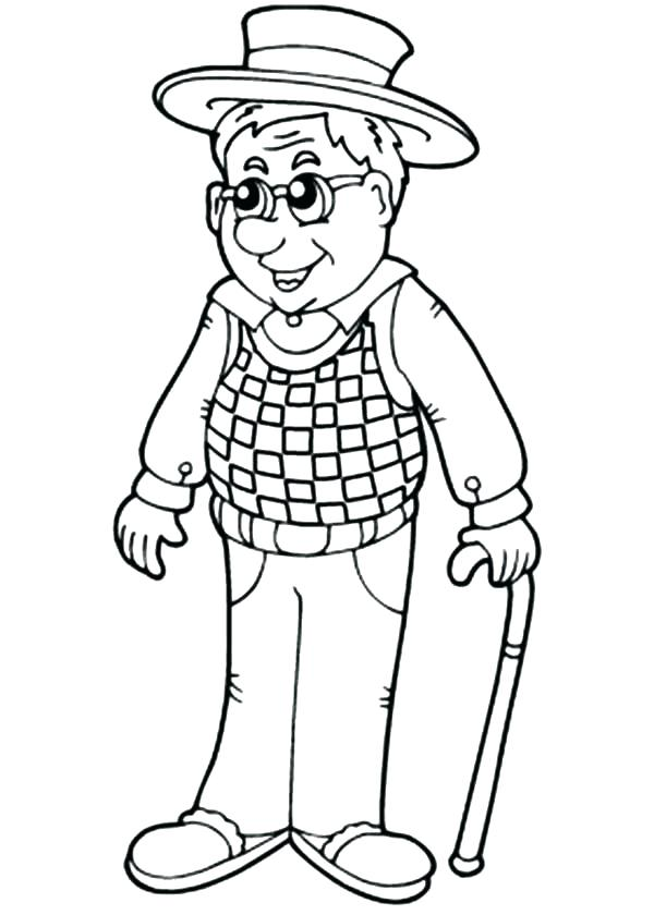 600x840 Fathers Day Coloring Pages For Grandpa Grandpa Coloring Pages