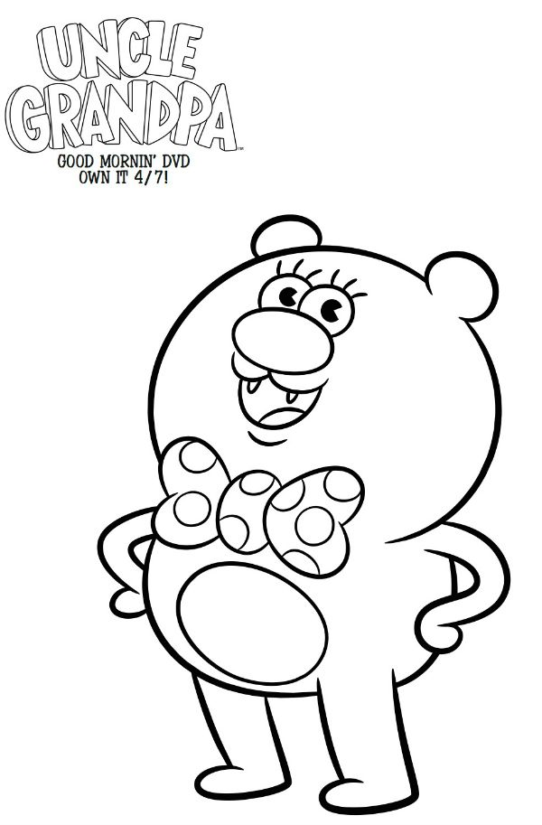 600x913 Free Cartoon Network Uncle Grandpa Coloring Page Printable