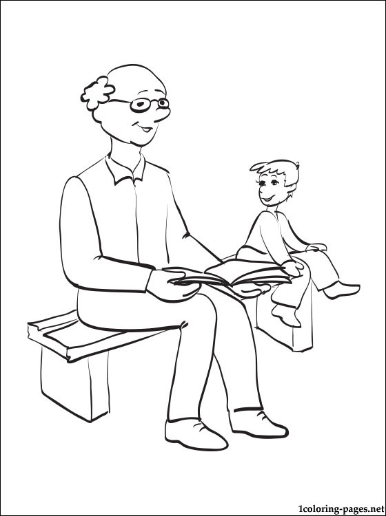 560x750 Grandfather's Day Coloring Page Coloring Pages