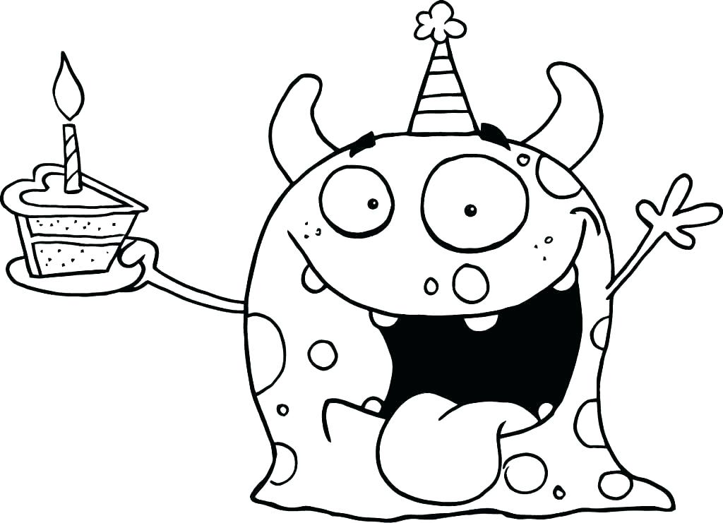1024x741 Free Printable Happy Birthday Coloring Pages Happy Page Sheets