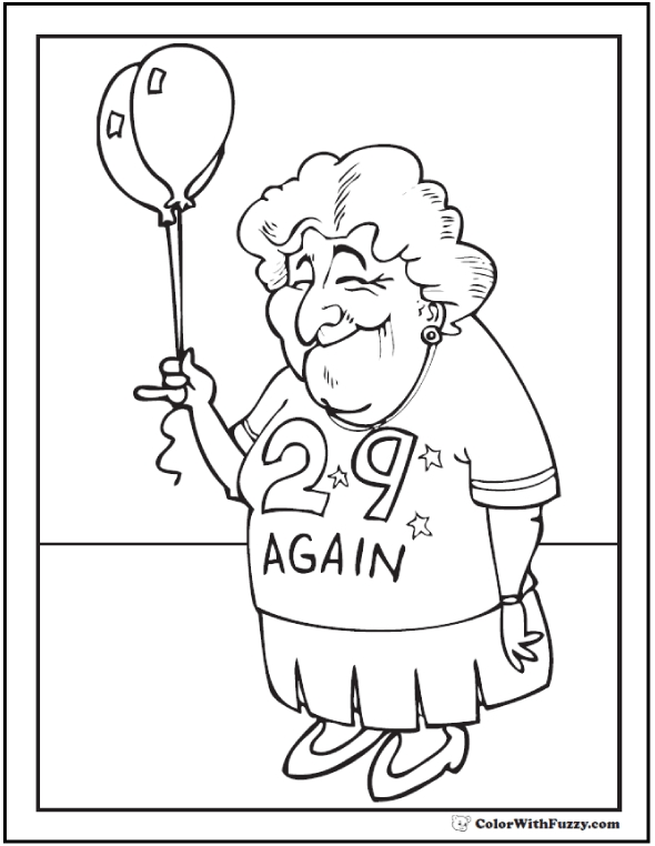 590x762 Gorgeous Birthday Coloring Pages For Grandma Gallery Diy