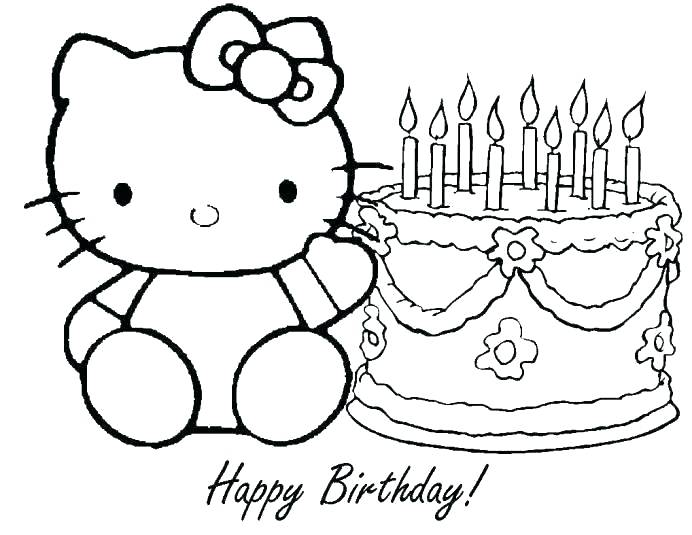 692x535 Happy Birthday Color Pages Happy Birthday Coloring Pages Printable