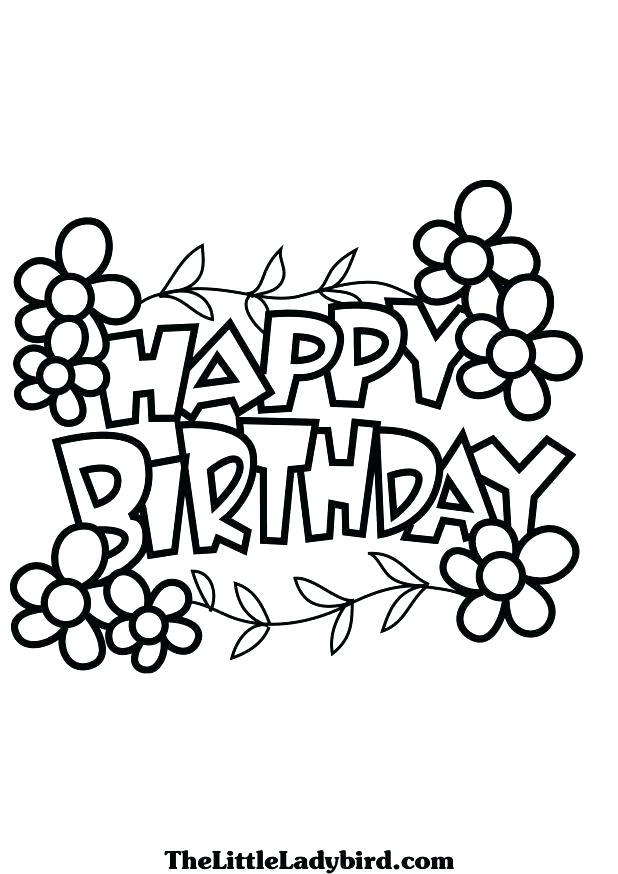 618x874 Happy Birthday Coloring Pages Birthday Coloring Pages In Addition