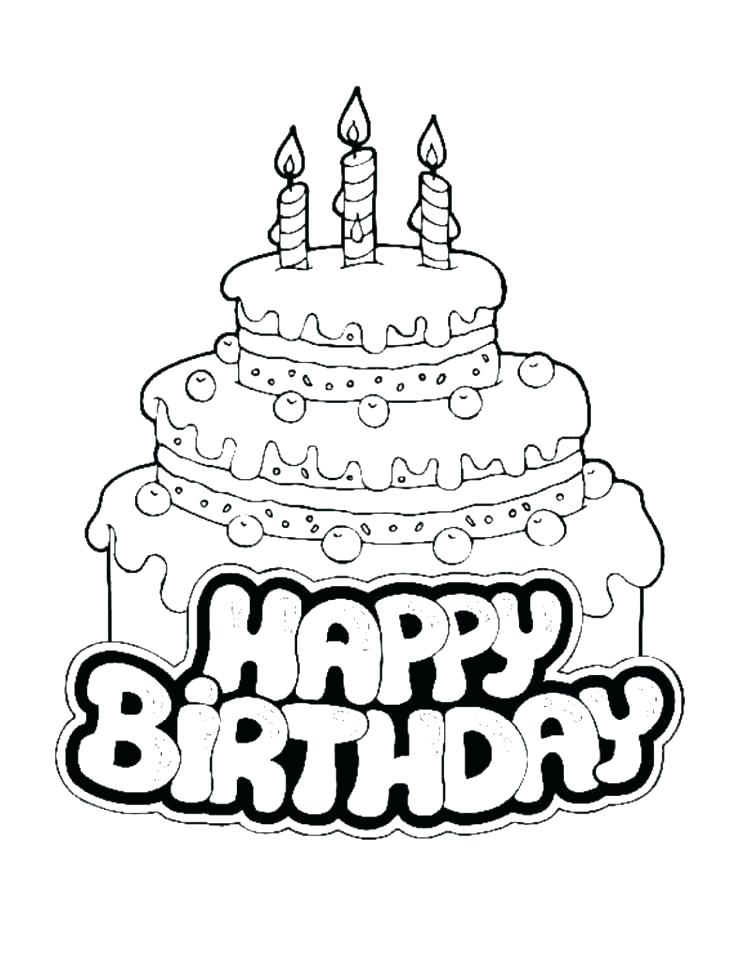742x960 Happy Birthday Coloring Pages Printable Happy Birthday Coloring