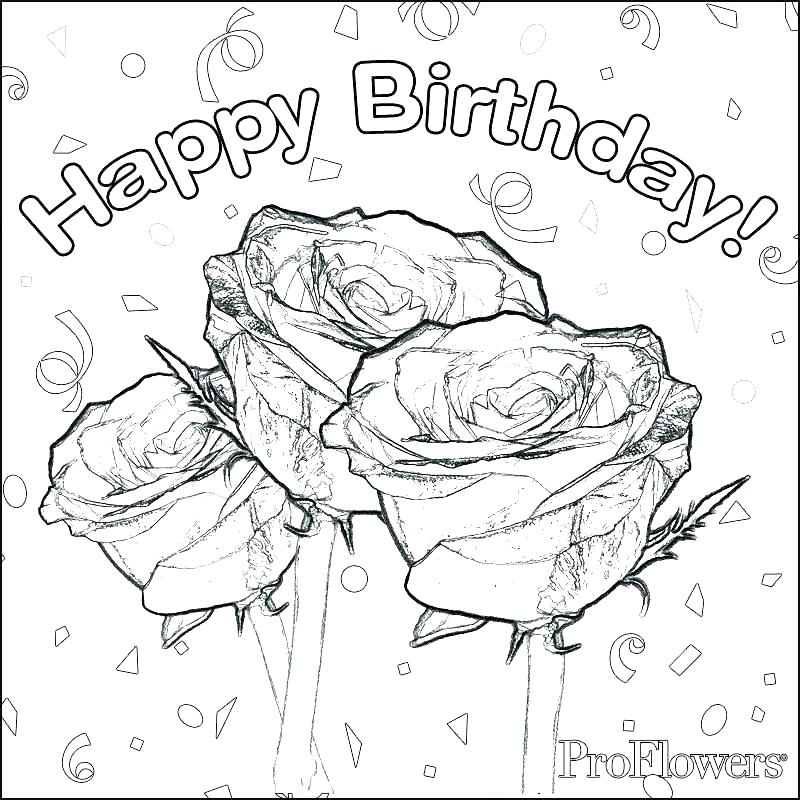 800x800 Happy Birthday Coloring Pictures Birthday Coloring Pages For Mom