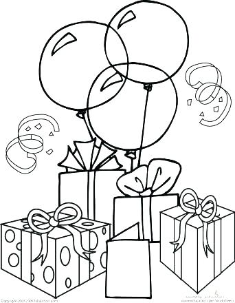 342x440 Happy Birthday Coloring Pictures Happy Birthday Coloring Pages