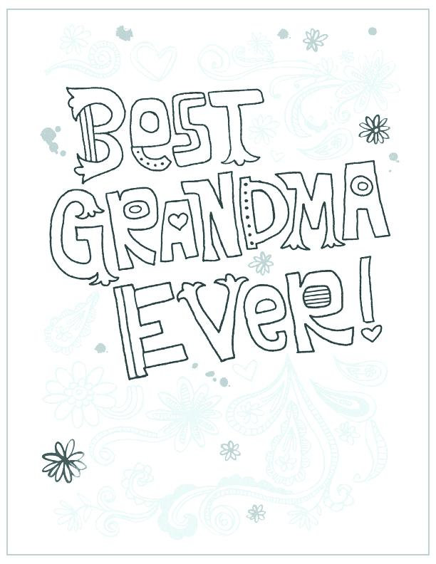 612x792 Happy Birthday Grandma Coloring Page Birthday Card Coloring Page