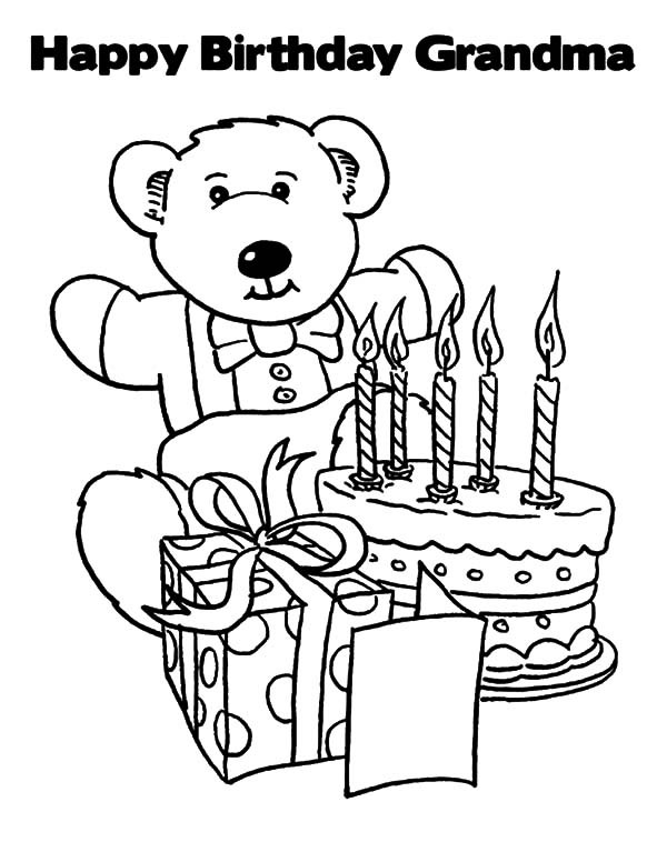600x776 Grandma Birthday Coloring Pages Happy Birthday Grandma Coloring