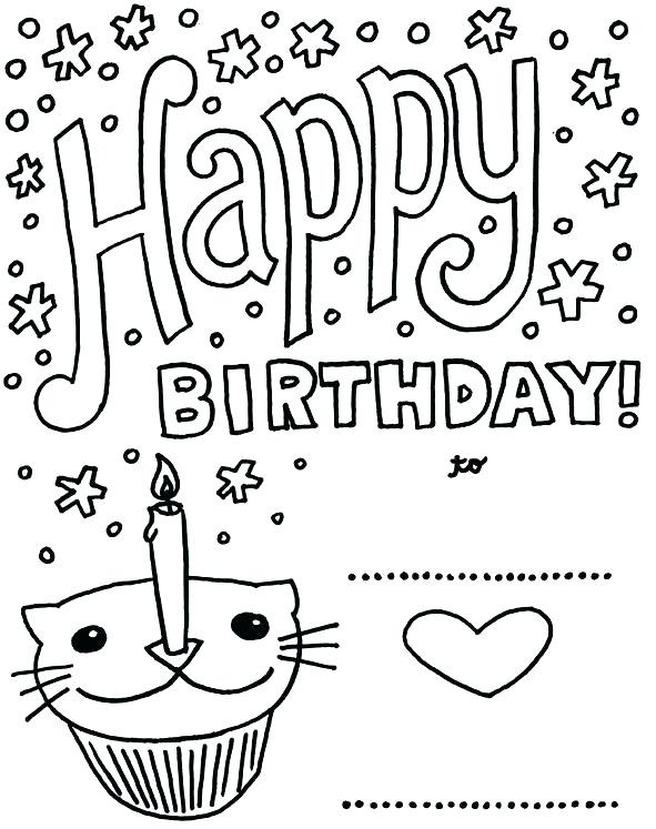 591x747 Happy Birthday Grandma Coloring Pages Happy Birthday Grandma