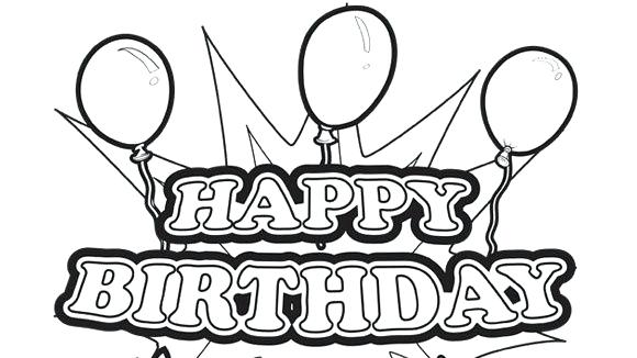 580x326 Colorable Birthday Cards Grandpa Birthday Coloring Pages Happy
