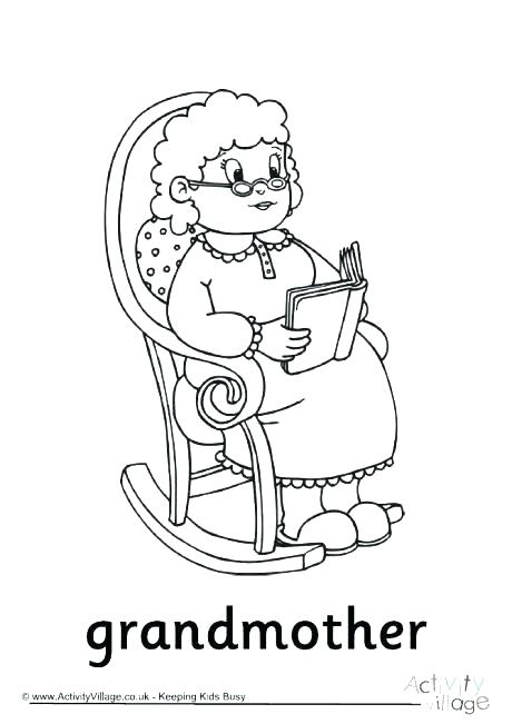 460x651 Happy Birthday Coloring Pages For Grandma Grandma Coloring Pages