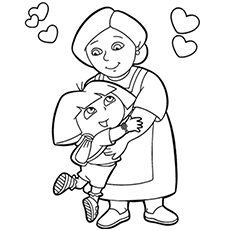 Grandma Coloring Page At Getdrawings Com Free For Personal