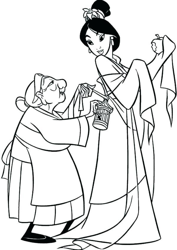 600x848 Mulan Coloring Page Coloring Page Coloring Page Grandmother Fa