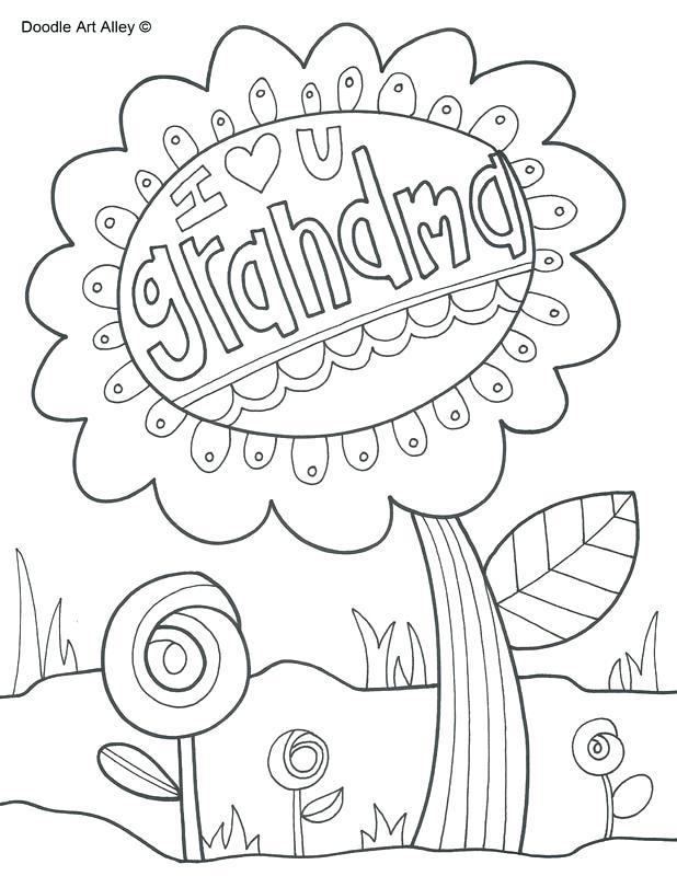 618x800 Grandma Coloring Pages I Love You Grandma Great Grandma Coloring