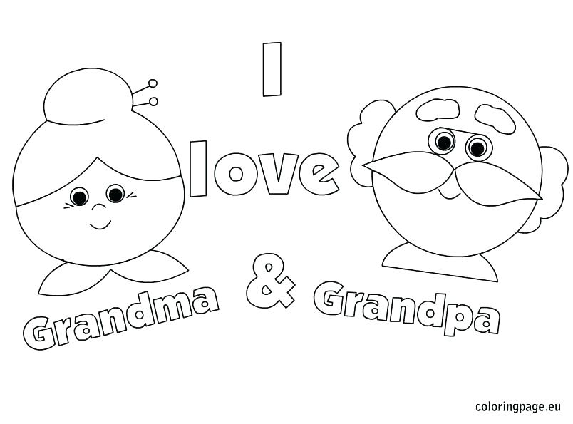 Grandparents Coloring Pages
