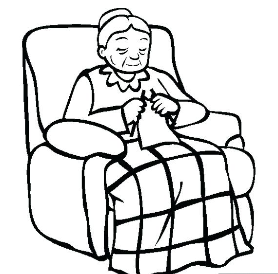 570x563 Grandma Coloring Pages Related Posts Grandparents Day Coloring