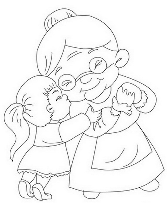 570x694 Grandparents Day Coloring Pages Activities For Kids