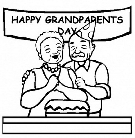 570x582 Grandparents Day Coloring Pages To Print And Color