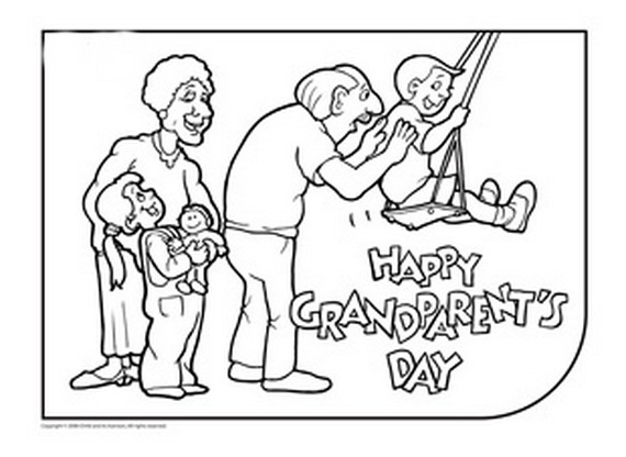 570x416 Happy Grandparents Day Cards Printable Coloring Pages