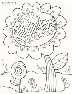 236x305 I Love You Grandma Coloring Page Pre K