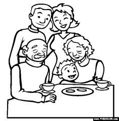 236x240 Boxing Day Family Gathering Online Coloring Page Babies