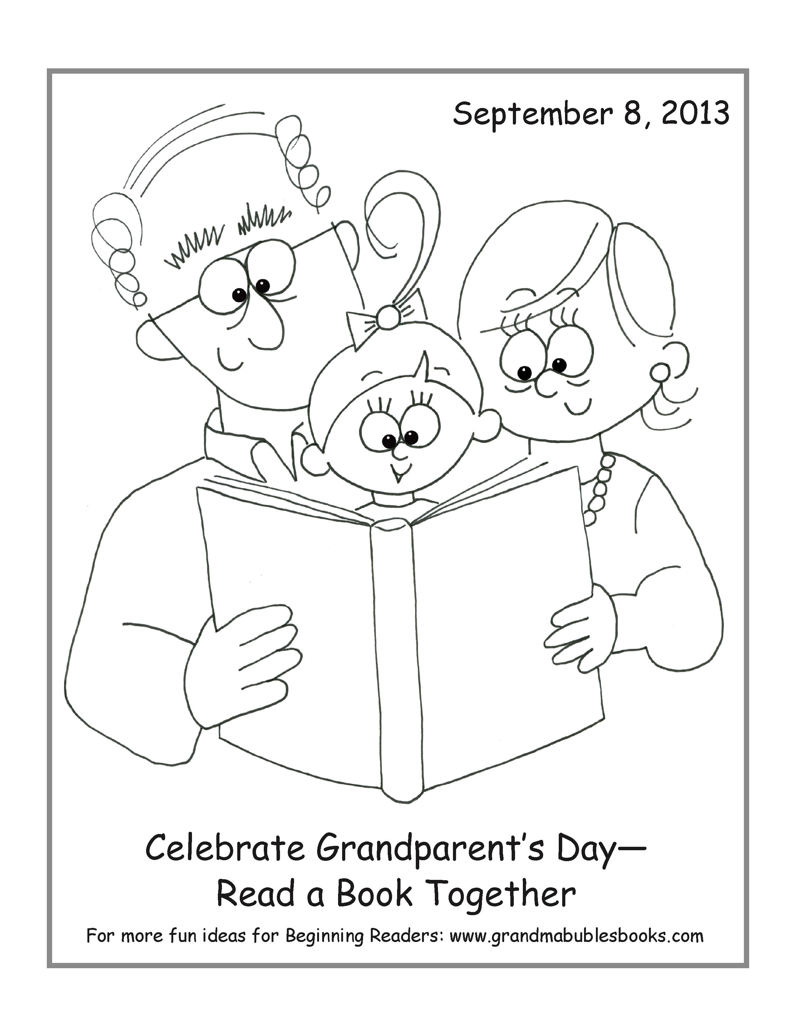 2550x3300 Grandparents Day Coloring Pages