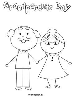 236x318 Grandparents Day Coloring Page