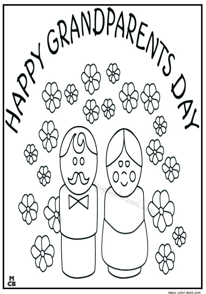 685x975 Happy Grandparents Day Coloring Pages Free