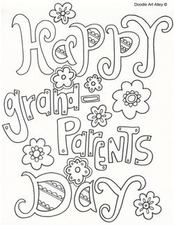 250x323 Grandparent's Day Coloring Sheets Letteringclipartgraphics