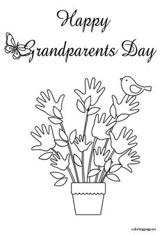 236x337 Grandparent Coloring Pages For Grandparents Day Grandparents
