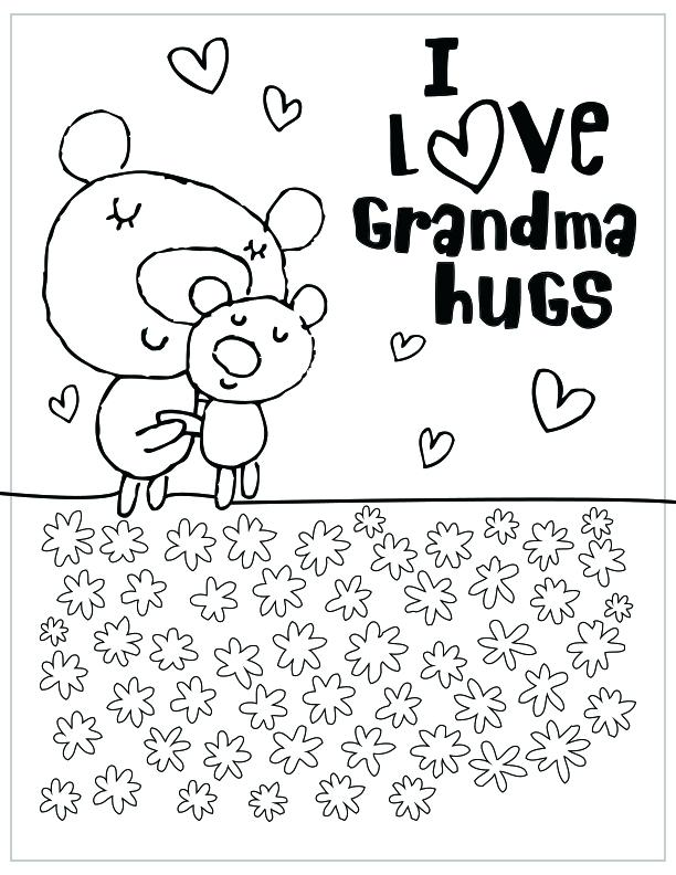 612x792 Grandma Coloring Pages Mothers Day Free Printable Coloring Pages