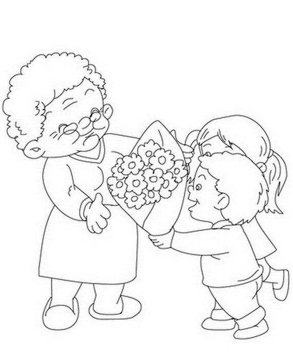 570x687 Grandparents' Day Coloring Pages For Kids