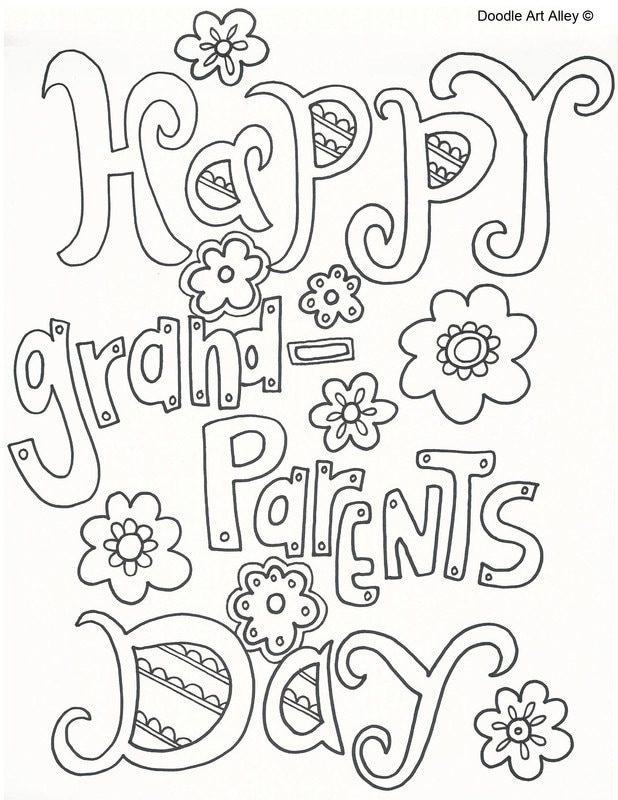 618x800 Grandparents Coloring Pages