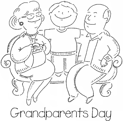 500x490 Best Grandparents Day Coloring Free Printable