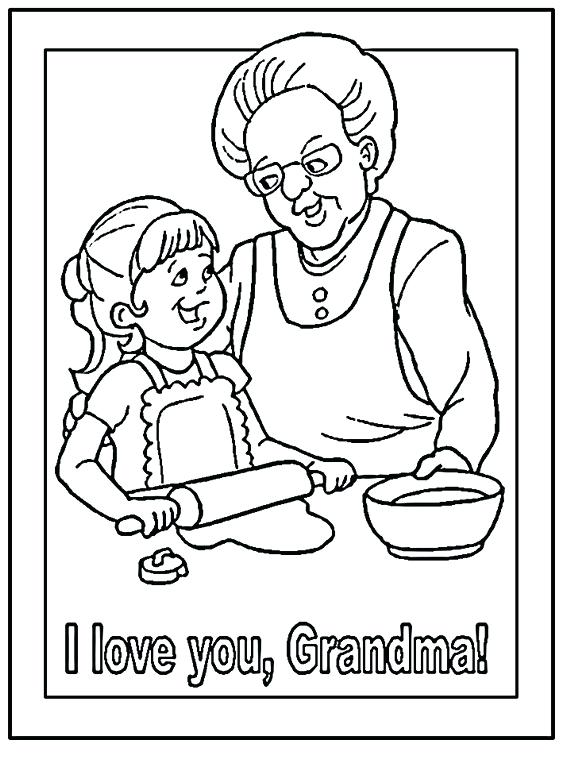 570x760 Grandparents Day Coloring Pages Free Valentines I Love You Much