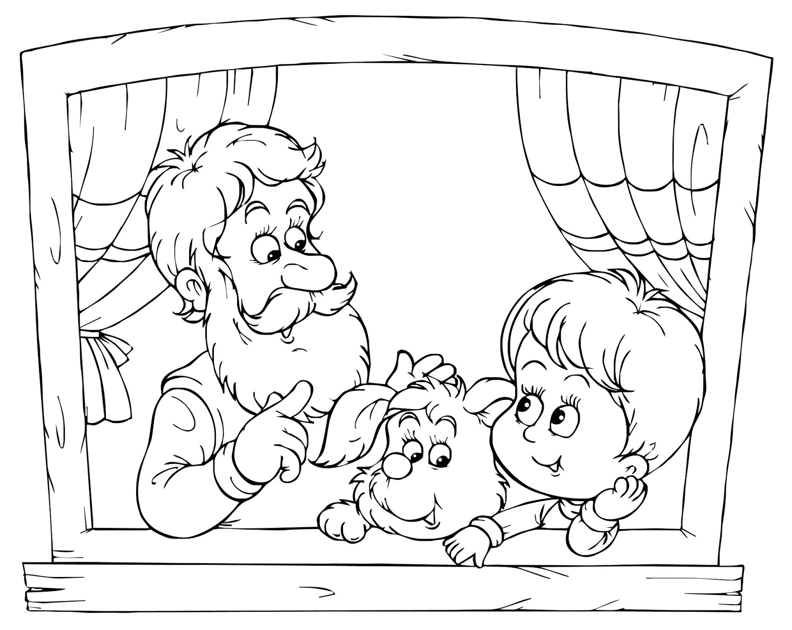 1600x1273 Grandparents Day Coloring Pages Free