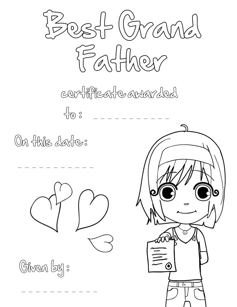 820x1060 Odd Free Printable Fathers Day Coloring Pages For Grandpa Best