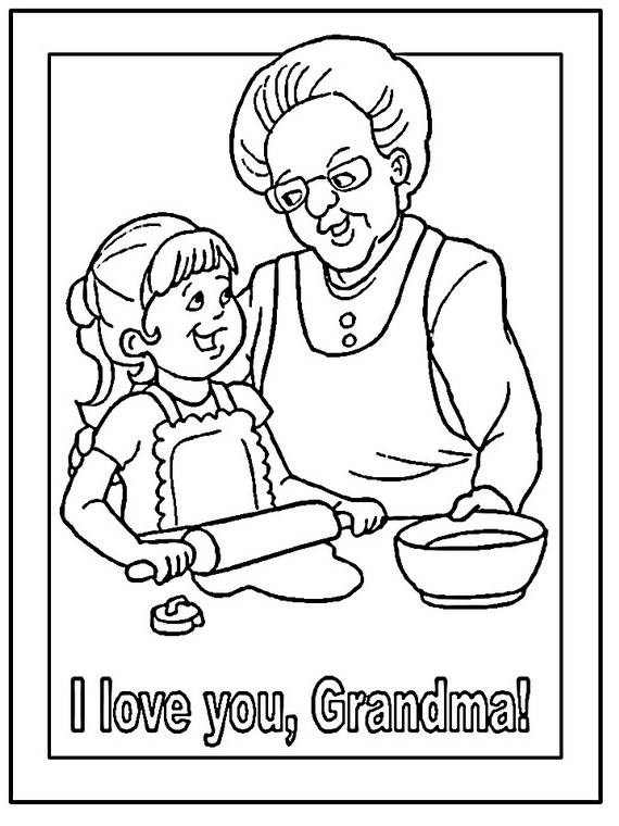 570x760 Grandparents Day Coloring Pages
