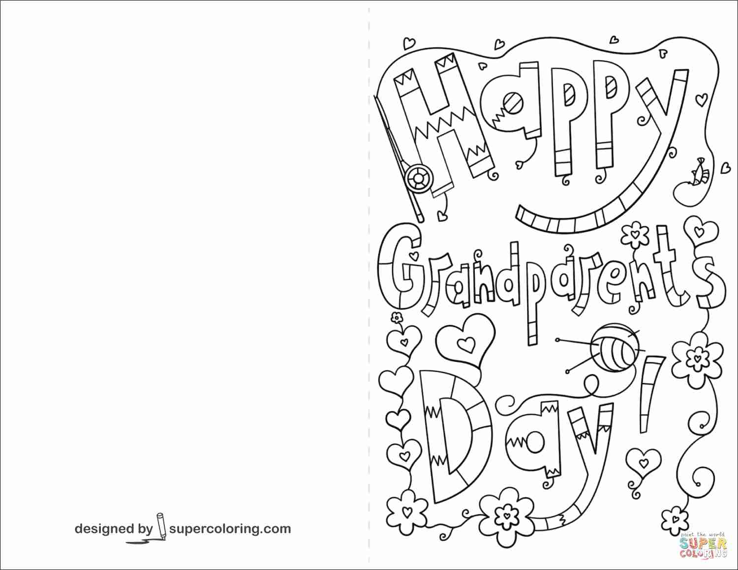 1500x1159 Happy Grandparents Day Coloring Page Free Printable Pages