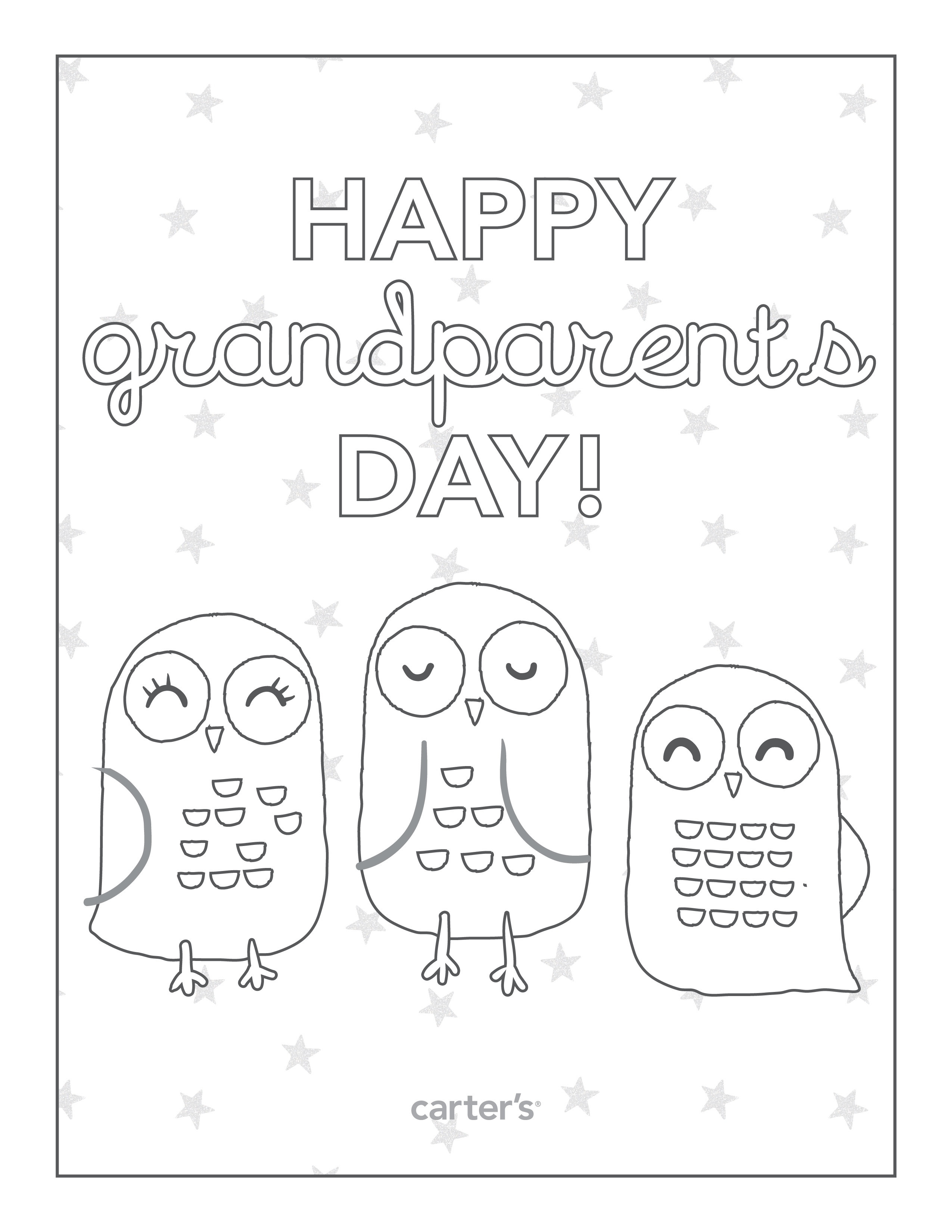 2550x3300 Happy Grandparents Day Coloring Page Free Printable Pages Within