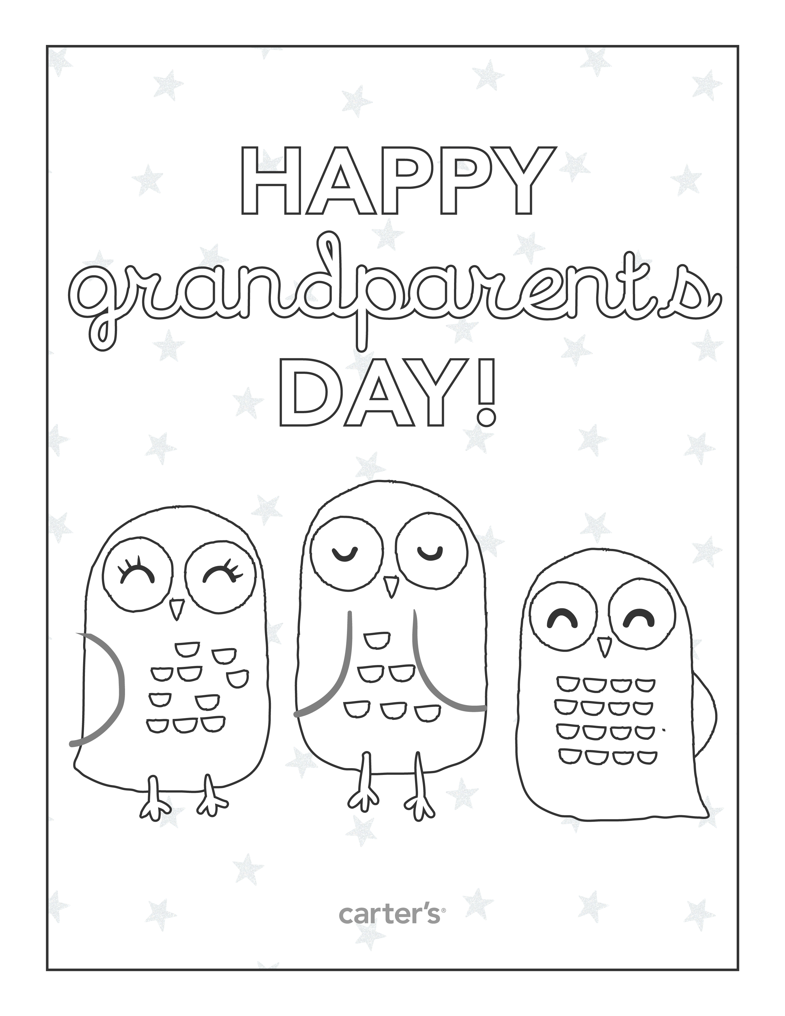 2550x3300 Best Grandparents Day Coloring Pages Free Printable Free