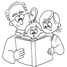 230x230 Top Grandparents Day Coloring Pages For Your Little Ones