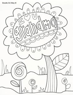 236x305 Grandparents Day Coloring Page