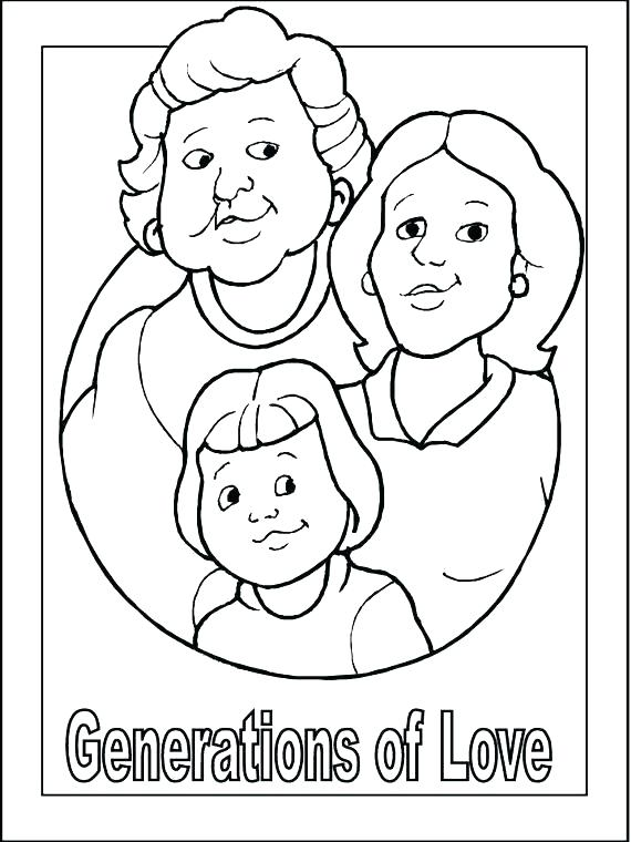 570x760 Grandma Coloring Pages Here Are Grandma Coloring Pages Pictures